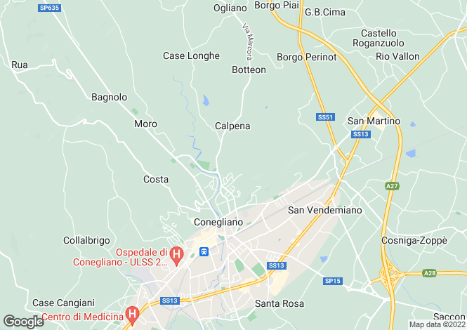 Map for Veneto, Treviso, Conegliano