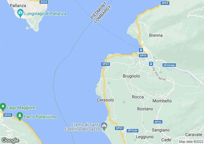 Map for Lombardy, Varese, Laveno