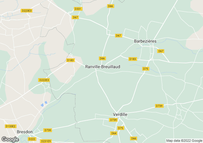 Map for ranville-breuillaud, Charente, France