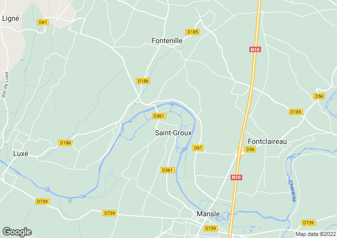 Map for st-groux, Charente, France