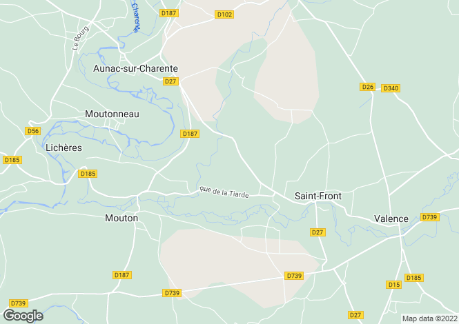 Map for st-front, Charente, France