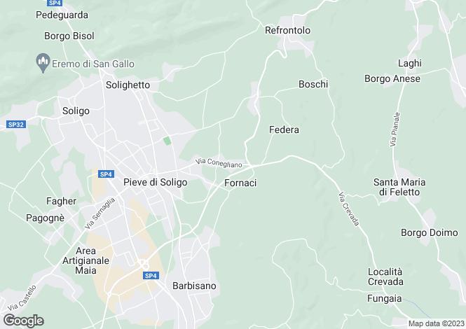 Map for Italy - Veneto, Treviso, Pieve di Soligo