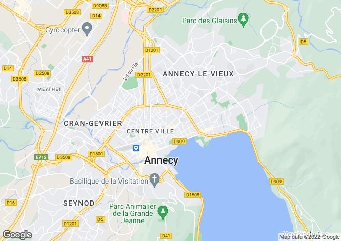 Map for ANNECY ,France