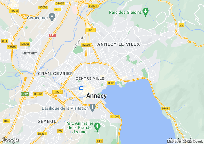 Map for annecy, Savoie, France
