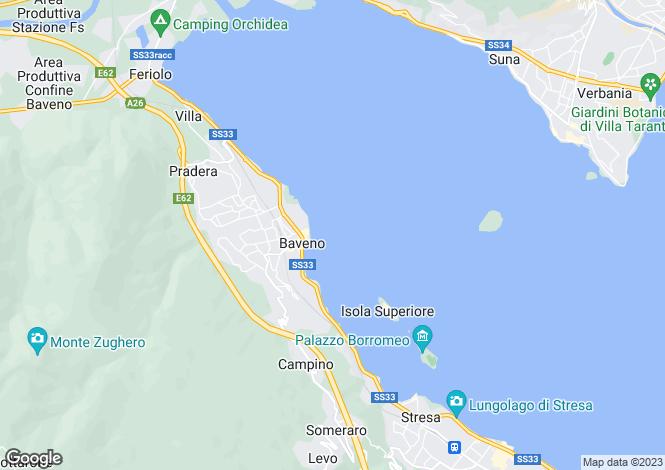 Map for Piedmont, Verbano-Cusio-Ossola, Baveno