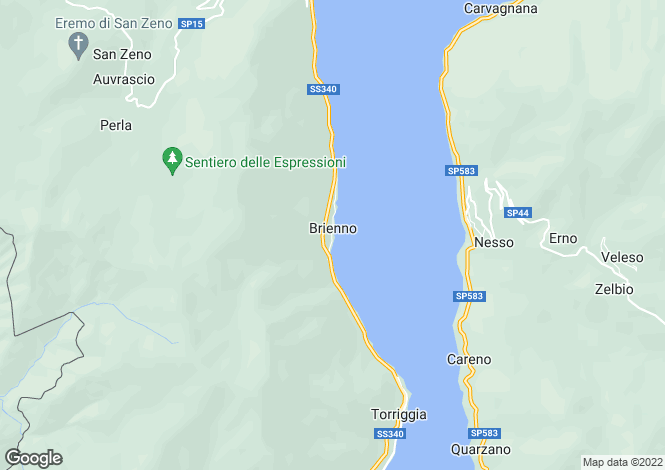 Map for Como, Lombardy, Italy