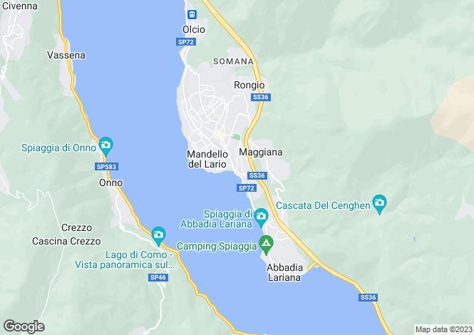 Map for Mandello Del Lario, Lake Como, Lombardy, Italy
