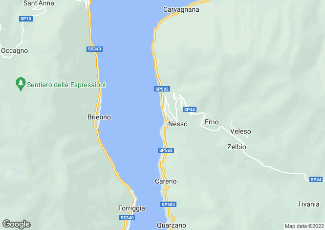 Map for Lombardy, Como, Nesso