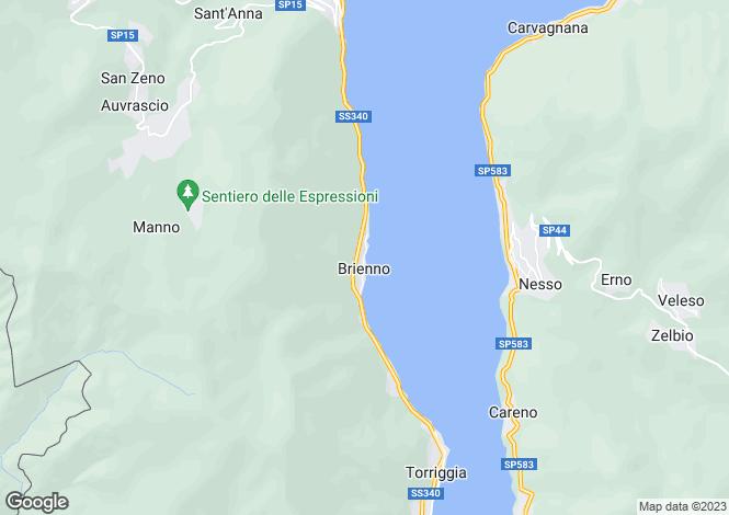 Map for Lombardy, Como, Brienno