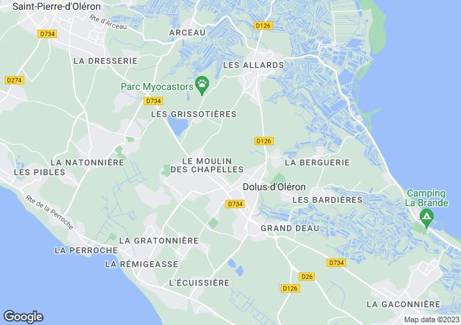 Map for dolus-d-oleron, Charente-Maritime, France