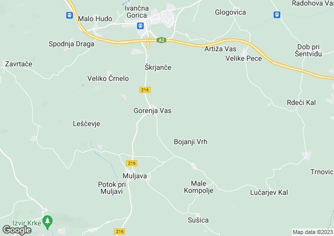 Map for Grosuplje, Krka