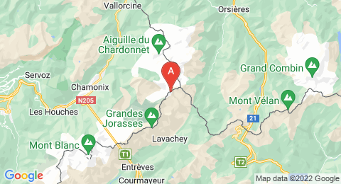 map of Aiguille de Triolet (France)
