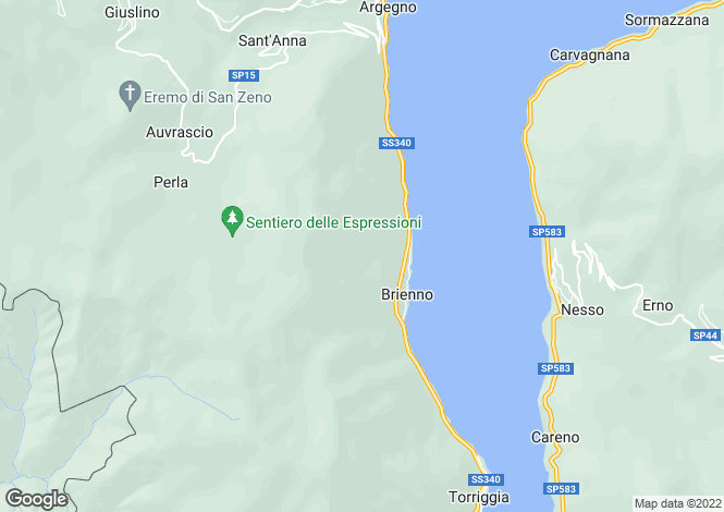 Map for Brienno, Lombardy, Italy