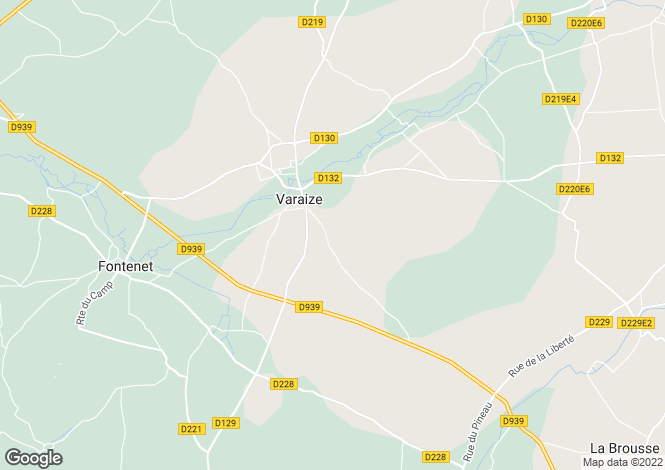 Map for varaize, Charente-Maritime, France