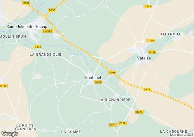 Map for 17400 FONTENET, Charente-Maritime, France
