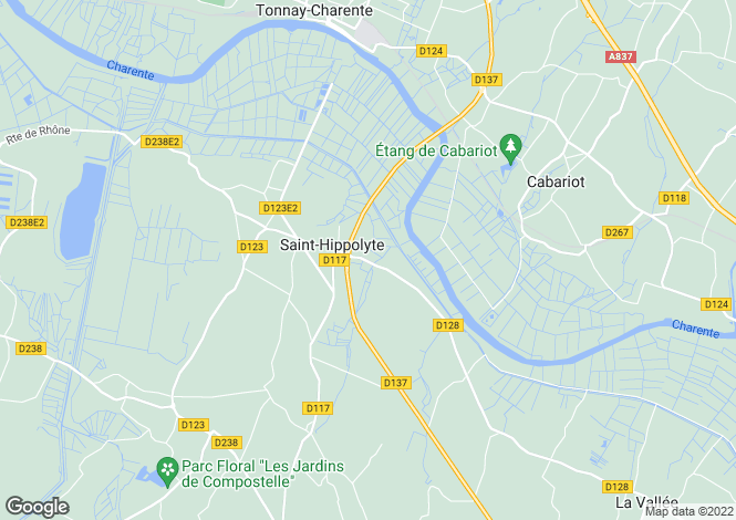 Map for st-hippolyte, Charente-Maritime, France