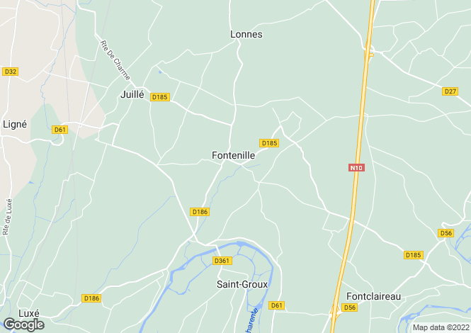 Map for 16230 FONTENILLE, Charente, France