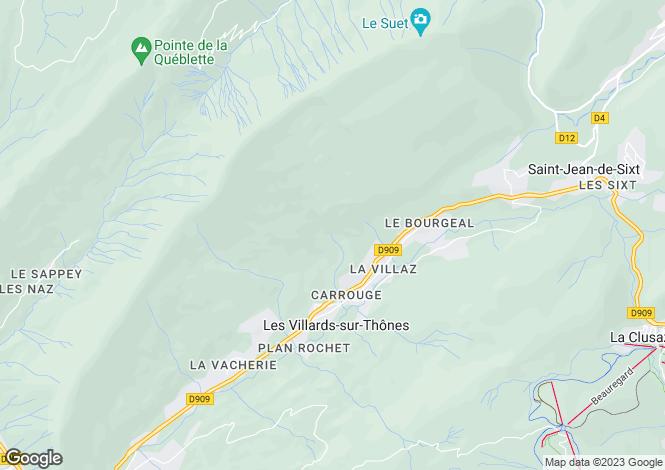 Map for Rhone Alps, Haute-Savoie, Les Villards-sur-Thônes