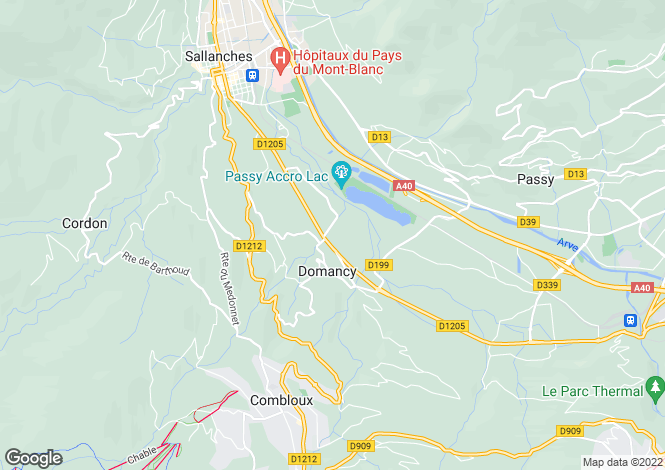 Map for Domancy, 74700, France
