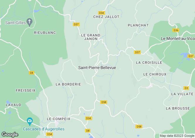 Map for st-pierre-bellevue, Creuse, France