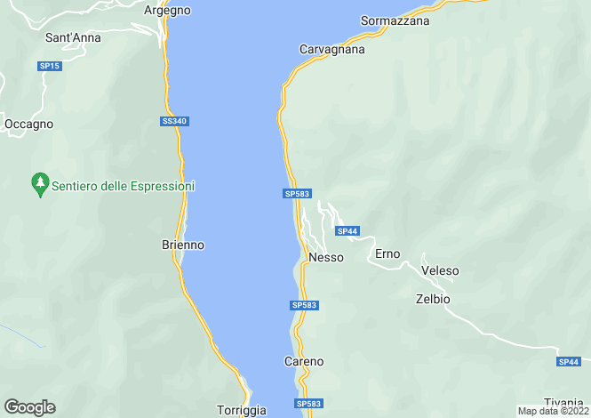 Map for Nesso, Como, Lombardy