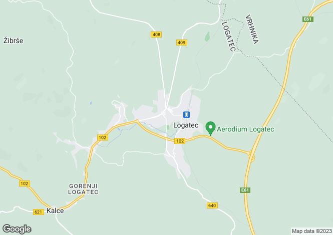Map for Ljubljana Area, Logatec, Slovenia