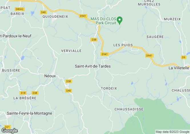 Map for st-avit-de-tardes, Creuse, France