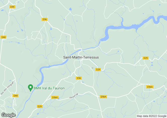 Map for Saint-Martin-Terressus, Haute-Vienne, 87400, France