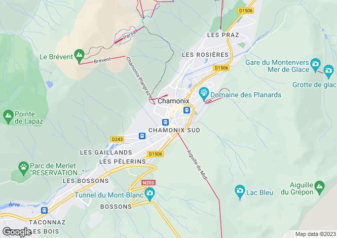 Map for Haute Savoie, 74400 Chamonix-Mont-Blanc