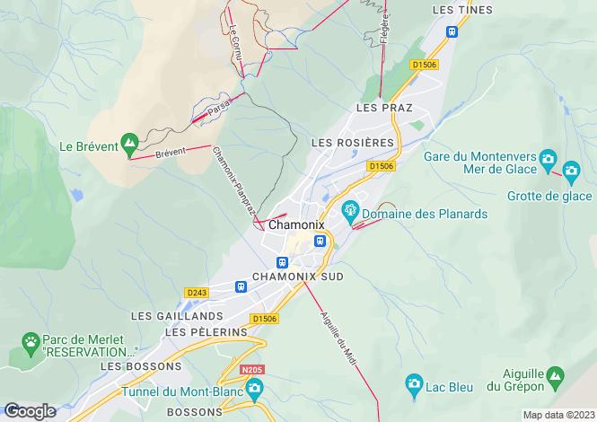 Map for Le Lavancher, Le Lavancher, Chamonix, France