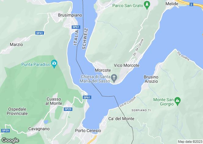 Map for Lugano, Ticino