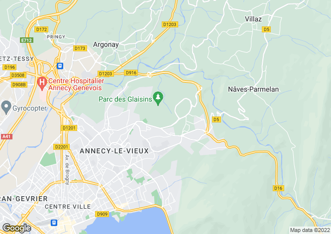 Map for Annecy le Vieux,France
