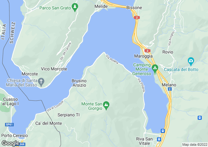 Map for Ticino