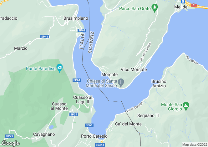 Map for Lugano, Ticino