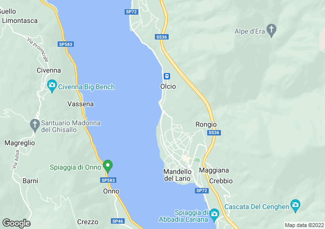 Map for Province Of Lecco, Lombardy, Italy