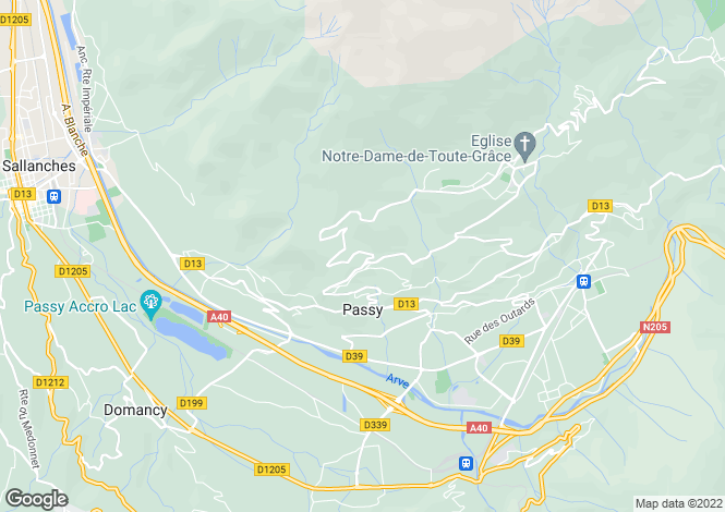 Map for Passy, 74190, France