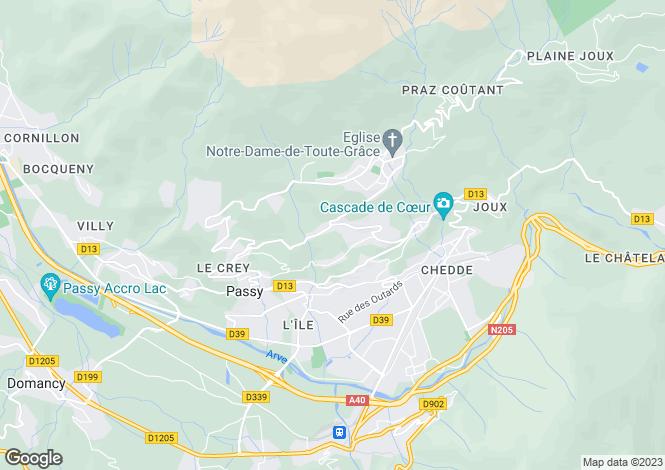 Map for Rhone Alps, Haute-Savoie, Plateau d'Assy