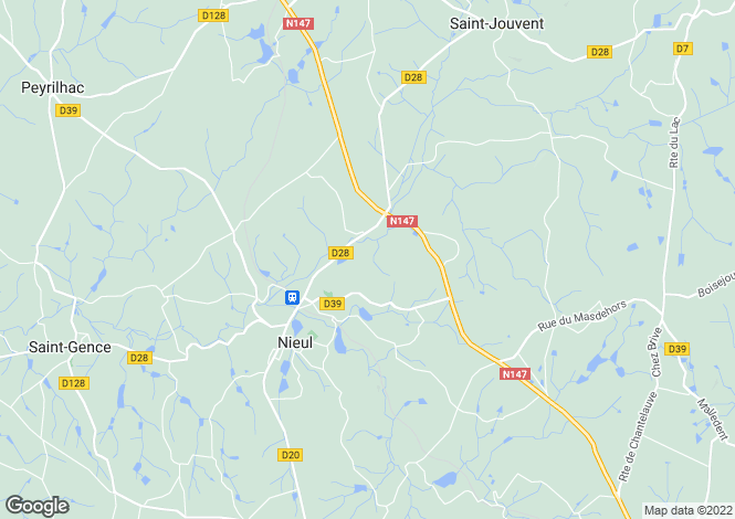 Map for nieul, Haute-Vienne, France