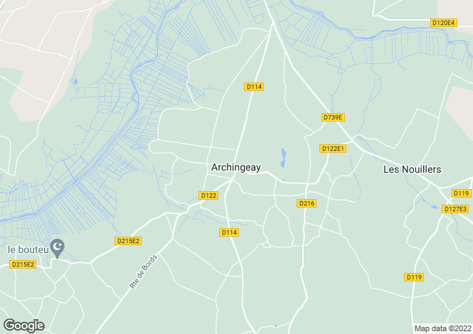 Map for Proche/Near Archingeay, Charente Maritime
