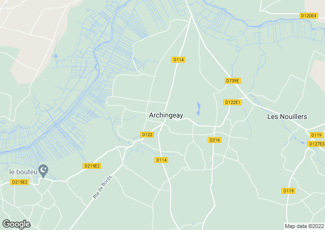 Map for Nr Archingeay, Charente-Maritime