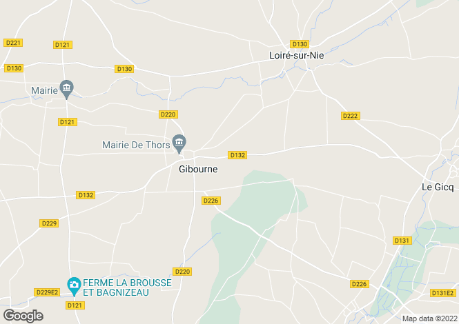 Map for gibourne, Charente-Maritime, France