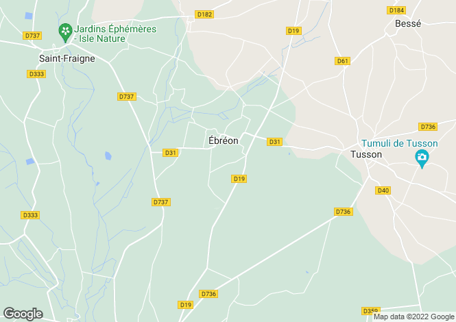 Map for ebreon, Charente, France