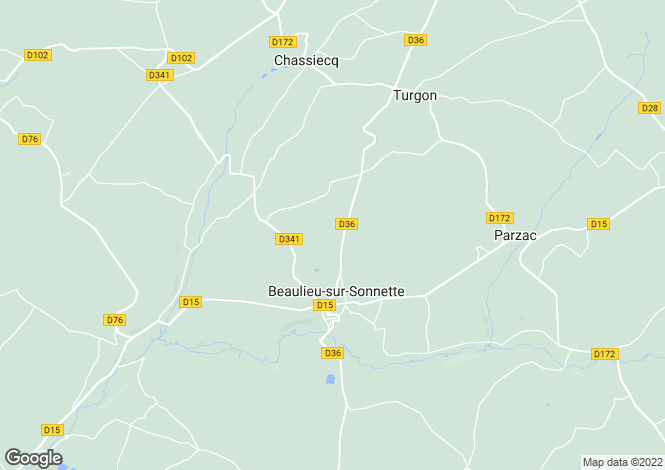 Map for beaulieu-sur-sonnette, Charente, France