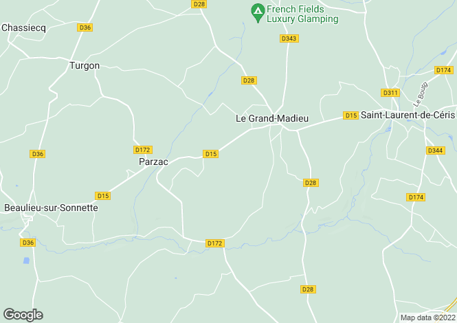 Map for le-grand-madieu, Charente, France