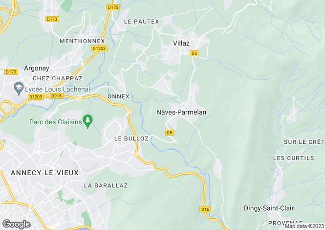 Map for Nâves-Parmelan, 74230, France