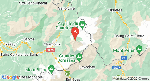 map of Aiguille Verte (France)