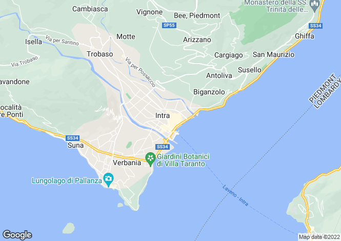 Map for Piedmont, Verbano-Cusio-Ossola, Verbania