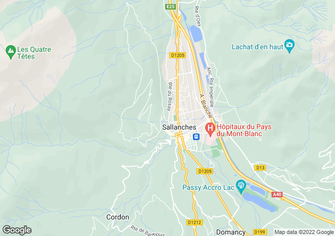 Map for sallanches, Haute-Savoie, France
