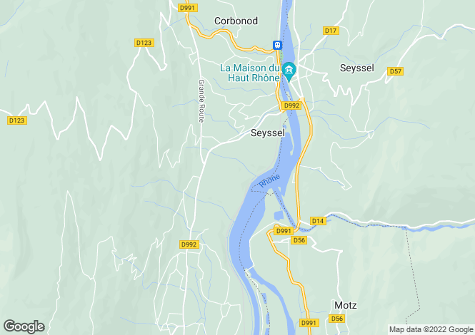 Map for Seyssel, Rhone-Alpes, 74910, France
