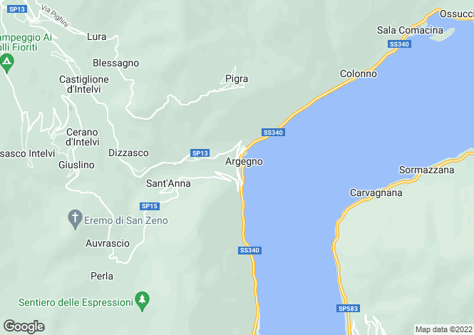 Map for Argegno, Italy